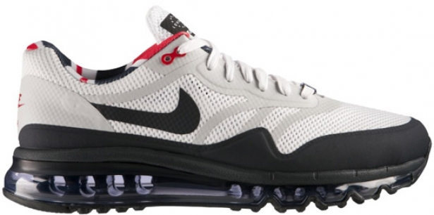 Nike Air Max 1 2013 QS London White/Dark Obsidian-University Red-Neutral Grey