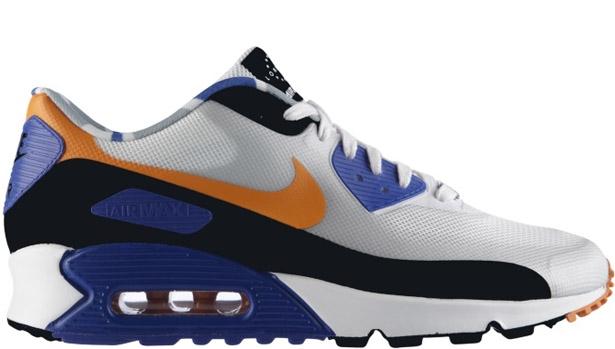 Nike Air Max '90 QS London White/Cool Grey-Mandarin-Hyper Blue