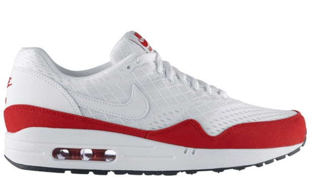 Nike Air Max 1 EM White/White-University Red-White