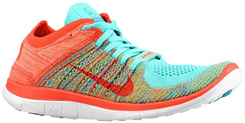 Nike Free 4.0 Flyknit N7 Women's Hyper Turquoise/Neo Turquoise-Sunset Glow-Bright Crimson