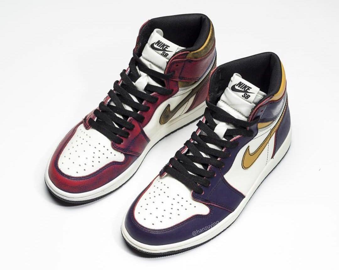 1 Sb DateSole Air Collector Release Nike X Jordan 'lakers' y8vn0mNwOP
