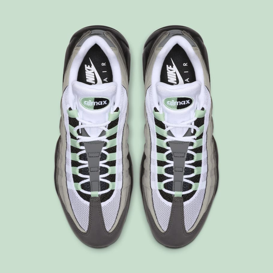 63d4958b Nike Air Max 95 'White/Fresh Mint-Granite Dust' CD7495-101 Release ...