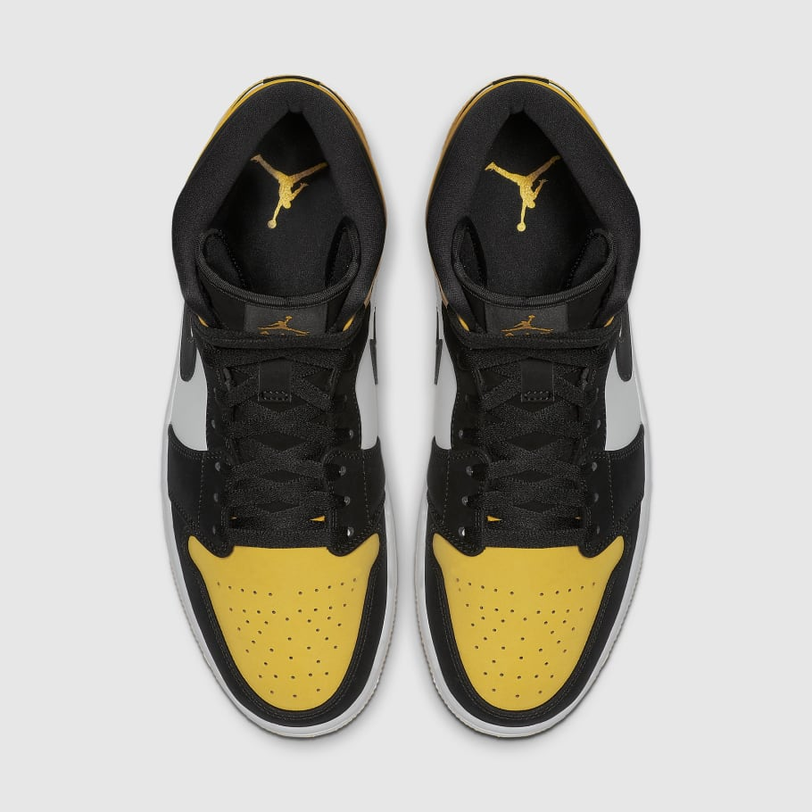 closer at best sale amazing price Air Jordan 1 Mid Yellow Toe Release Date 852542-071 | Sole ...