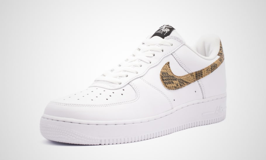 Nike Air Force 1 Low 'Ivory Snake' AO1635 100 Release Date