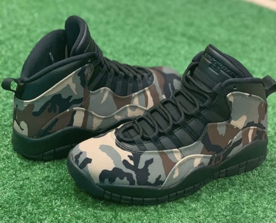 low priced b0de9 0d03b Air Jordan 10 Retro  Desert Camo   Woodland Camo  Release Date 310805-200  310805-201   Sole Collector