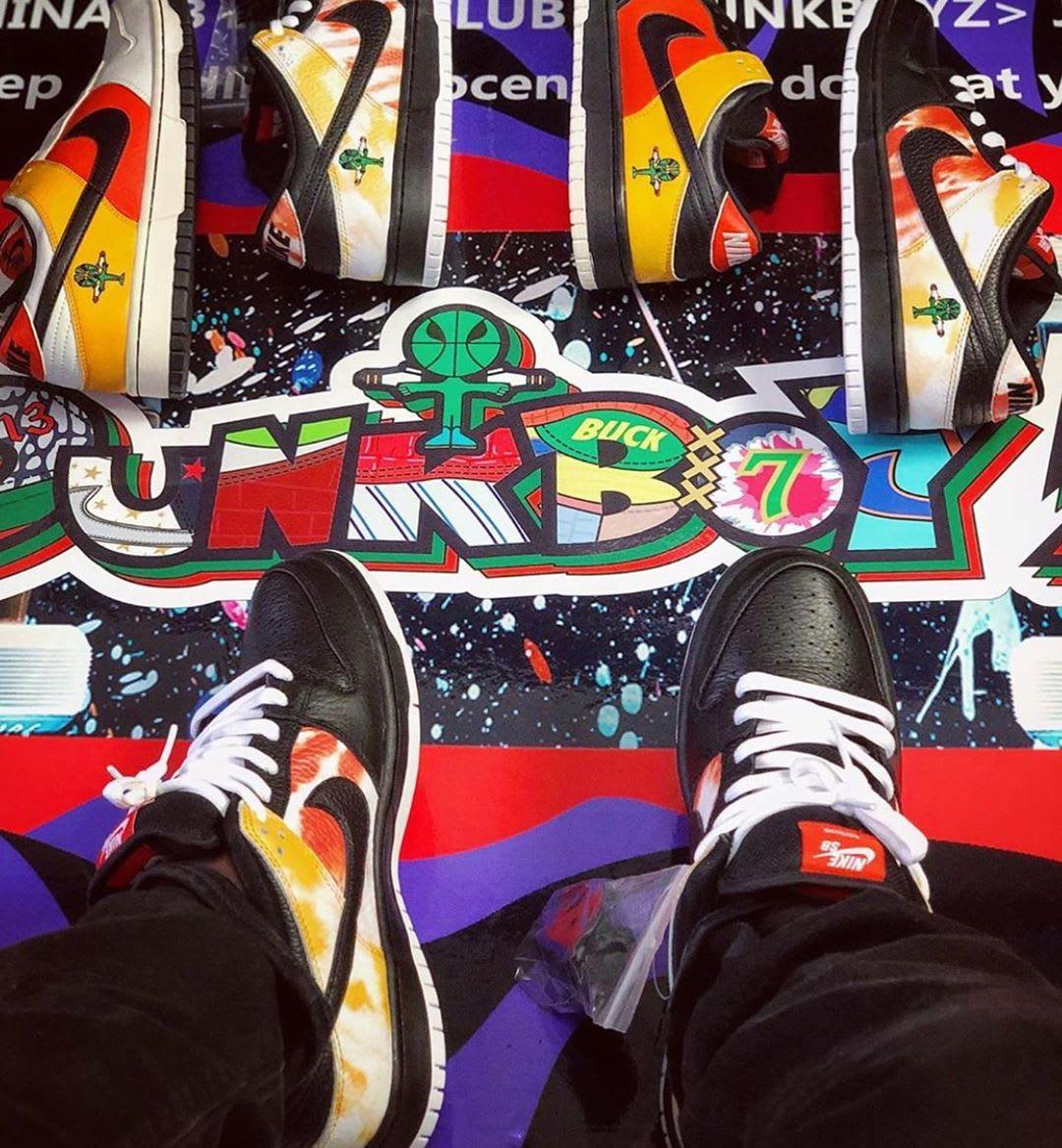 Nike SB Dunk Low 'Raygun Tie Dye' BQ6832-001 (Comparison)