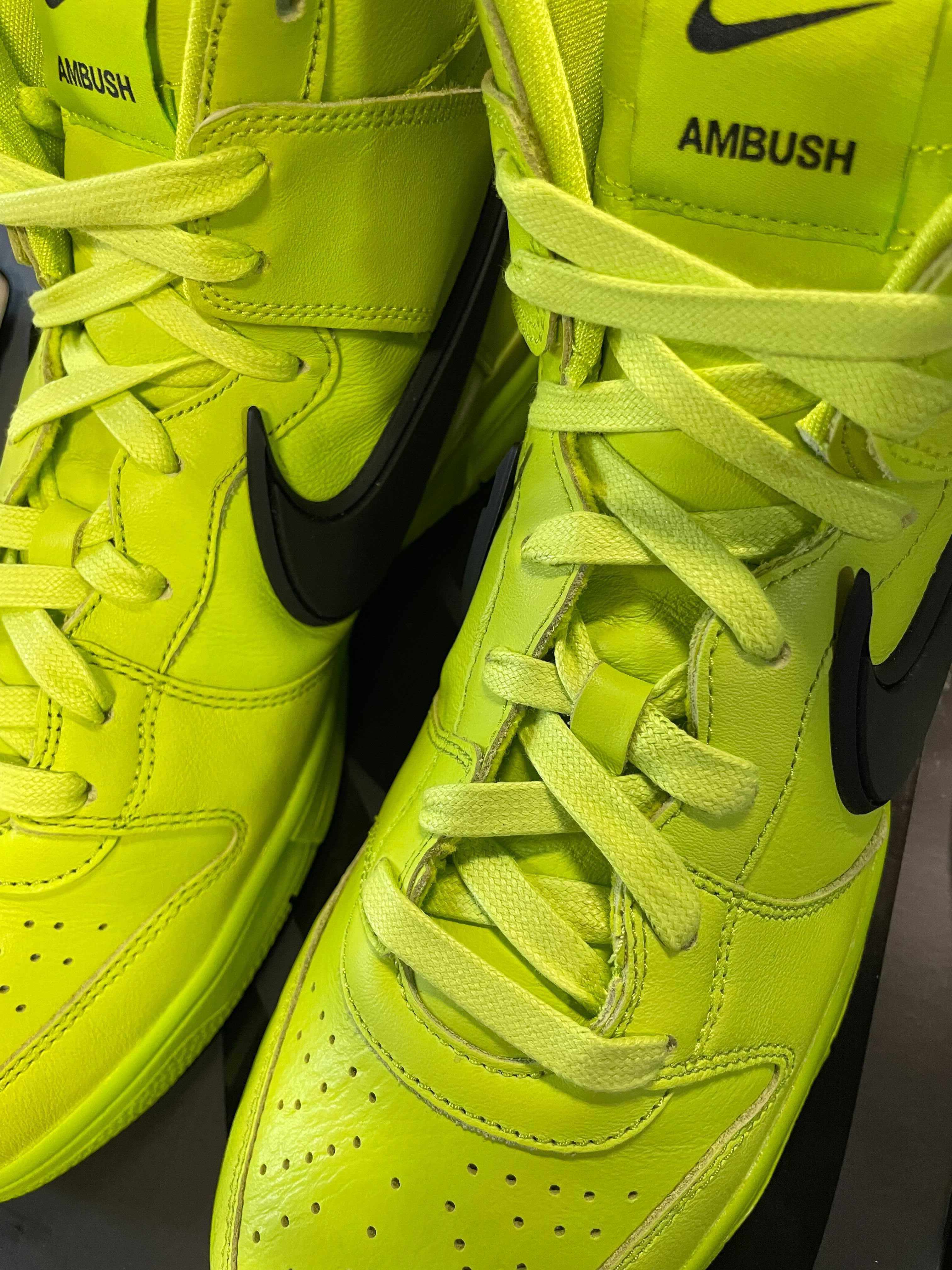 Ambush x Nike Dunk High 'Atomic Green' CU7544-300 Front