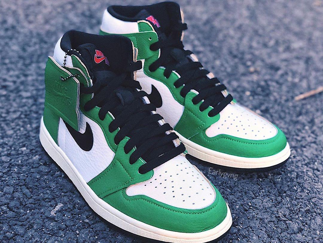 Air Jordan 1 Women's Lucky Green Release Date DB4612-300 Pair Right