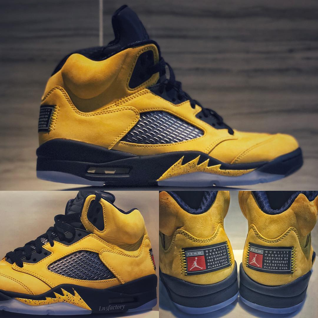 more photos 160a1 83341 Air Jordan 5 Retro SP  Michigan  CQ9541-704