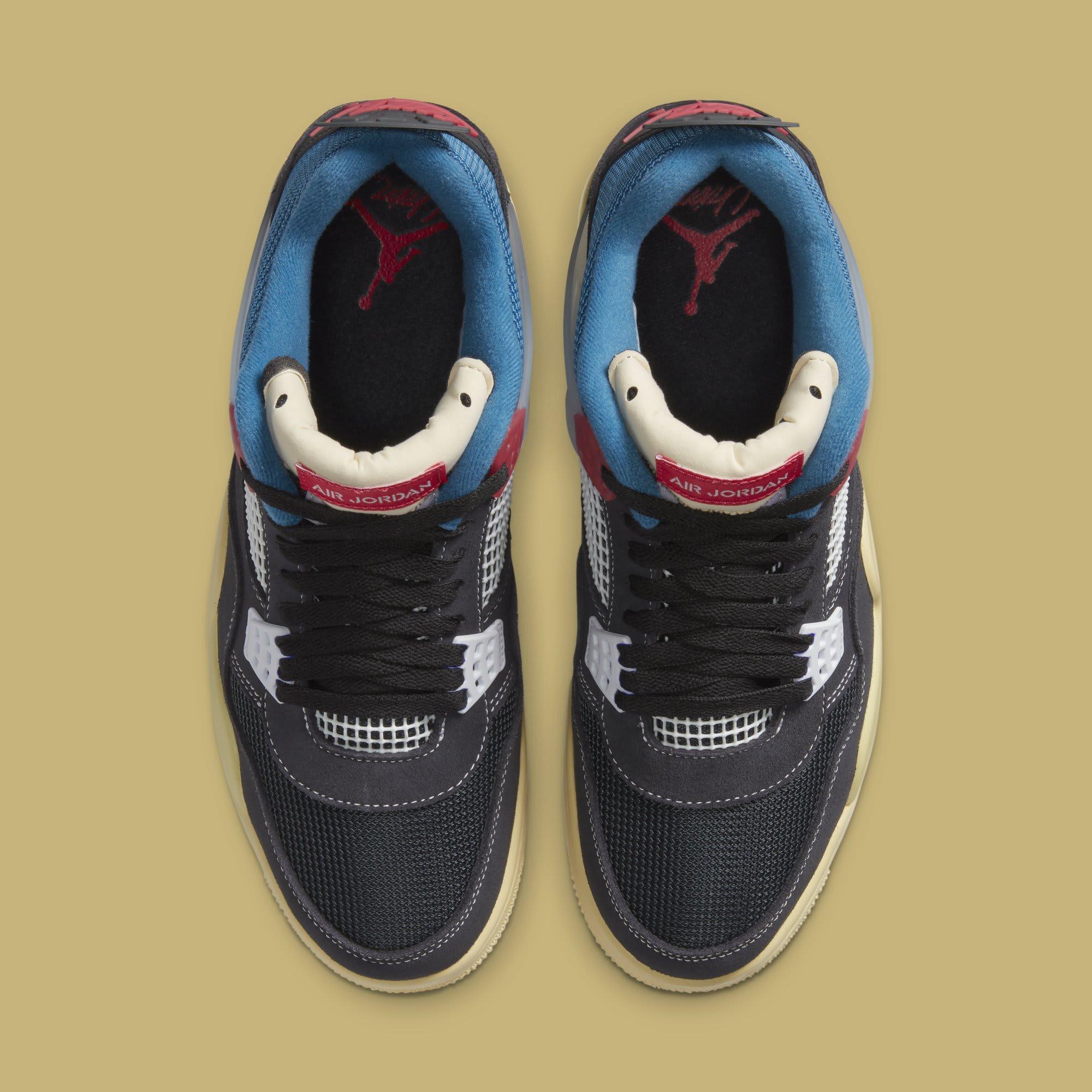 Union x Air Jordan 4 Retro 'Off-Noir' DC9533-001 Top