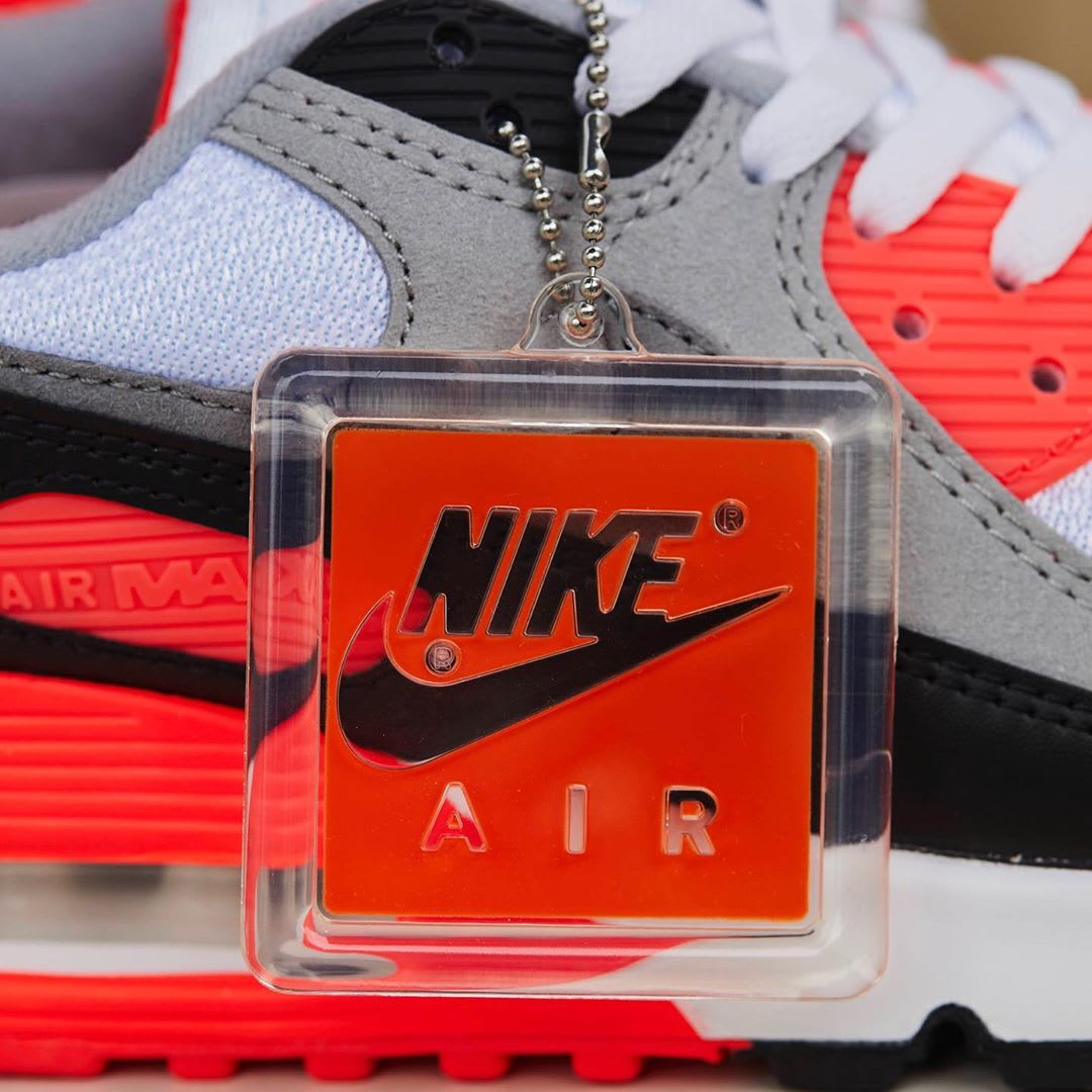 Nike Air Max 90 Infrared Release Date CT1685-100 Hang Tag