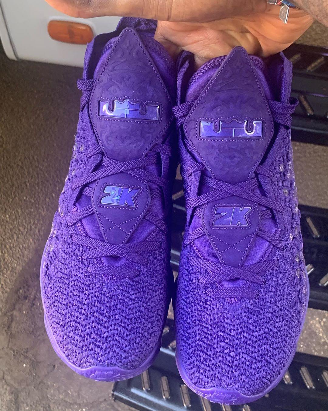 Nike LeBron 17 2K Purple Release Date Logo