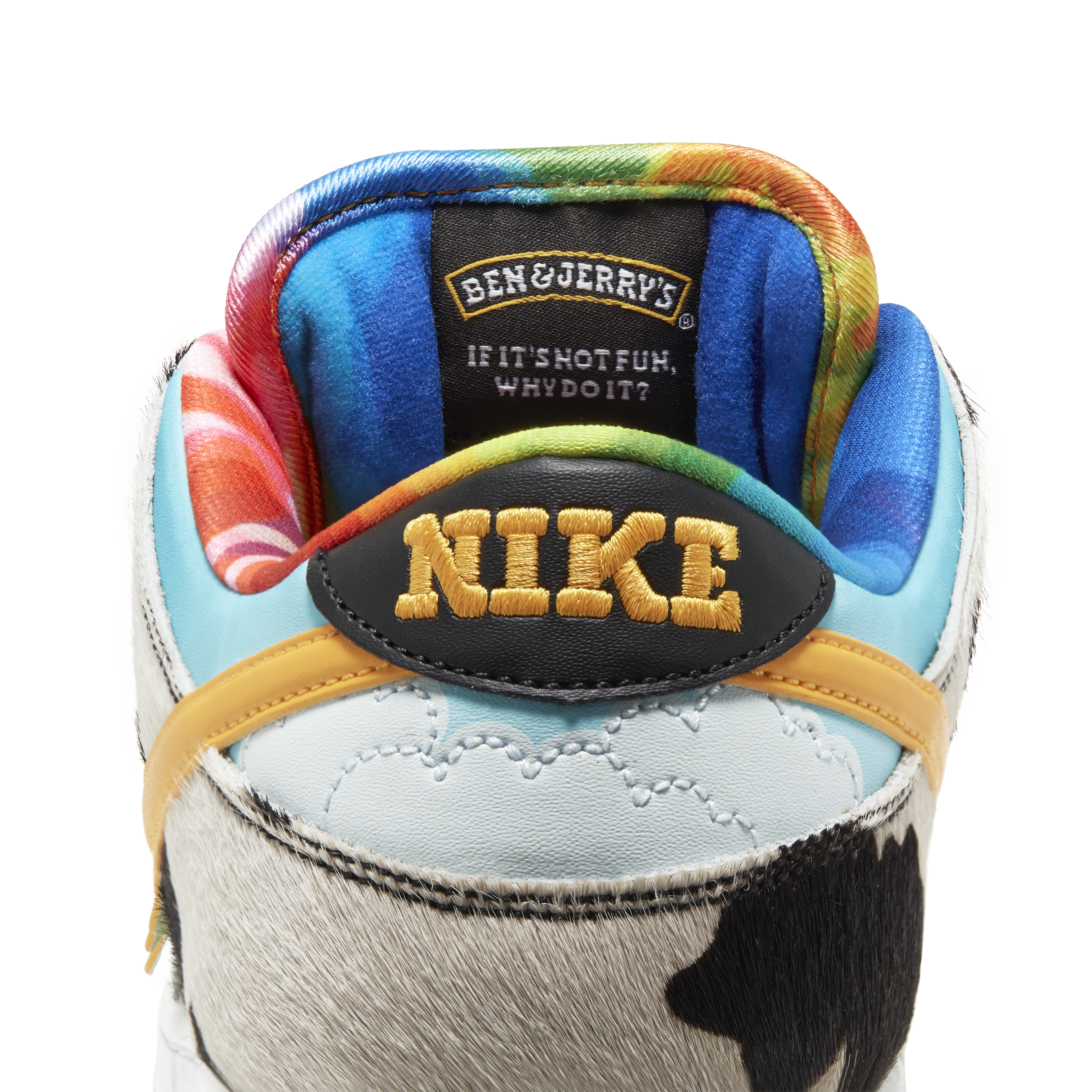 Ben and Jerry's x Nike SB Dunk Low 'Chunky Dunky' CU3244-100 (Heel)
