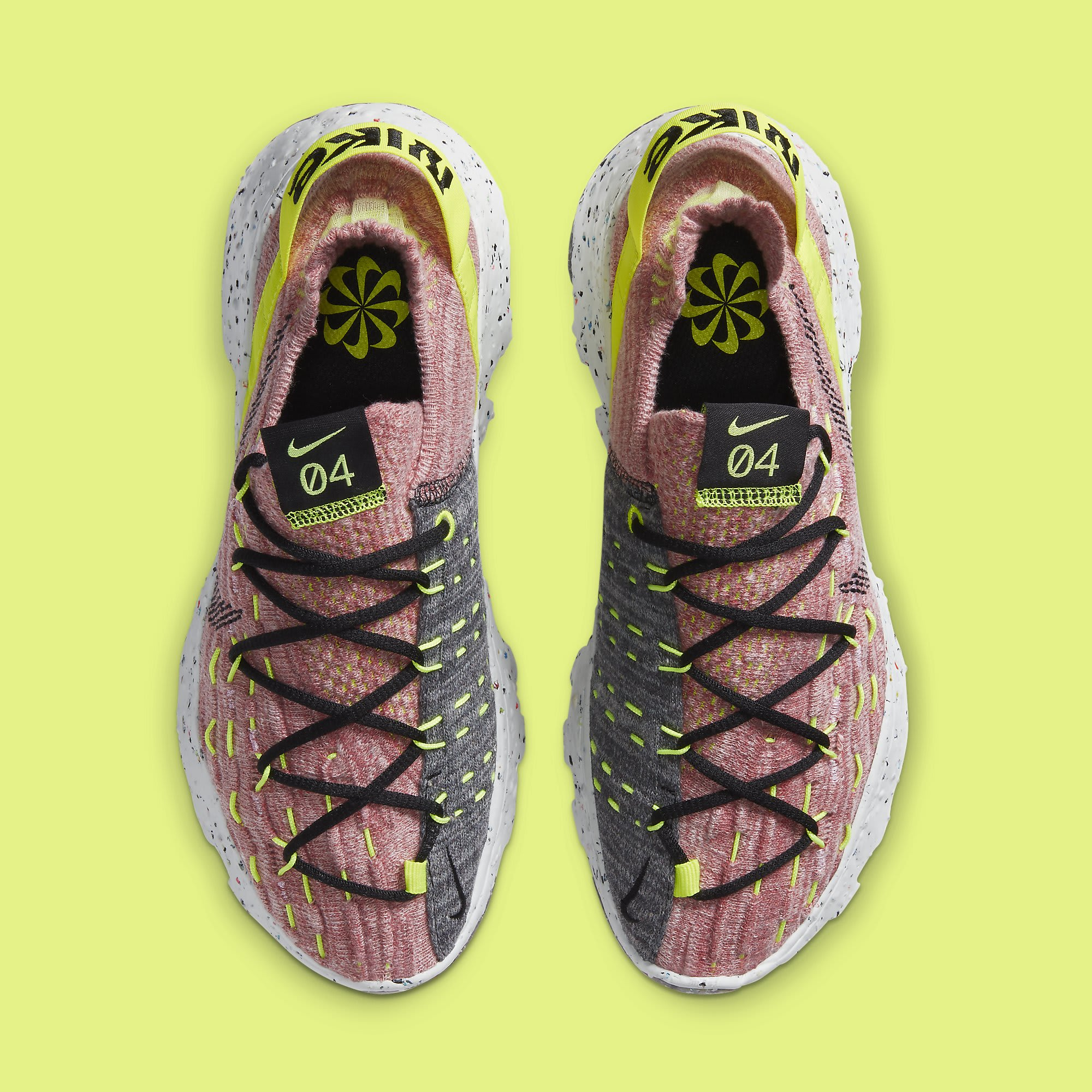 Nike Space Hippie 04 Women's 'Lemon Venom' CD3476-700 Top