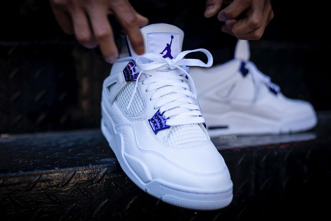 Air Jordan 4 Court Purple Release Date CT8527-115 On-Foot Front