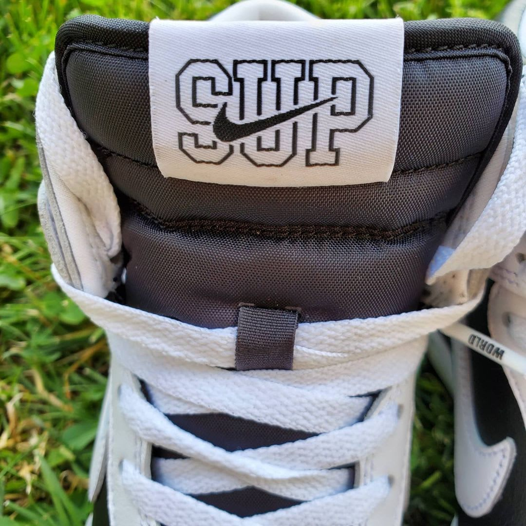 Supreme x Nike SB Dunk High 'By Any Means' (Tongue Detail)