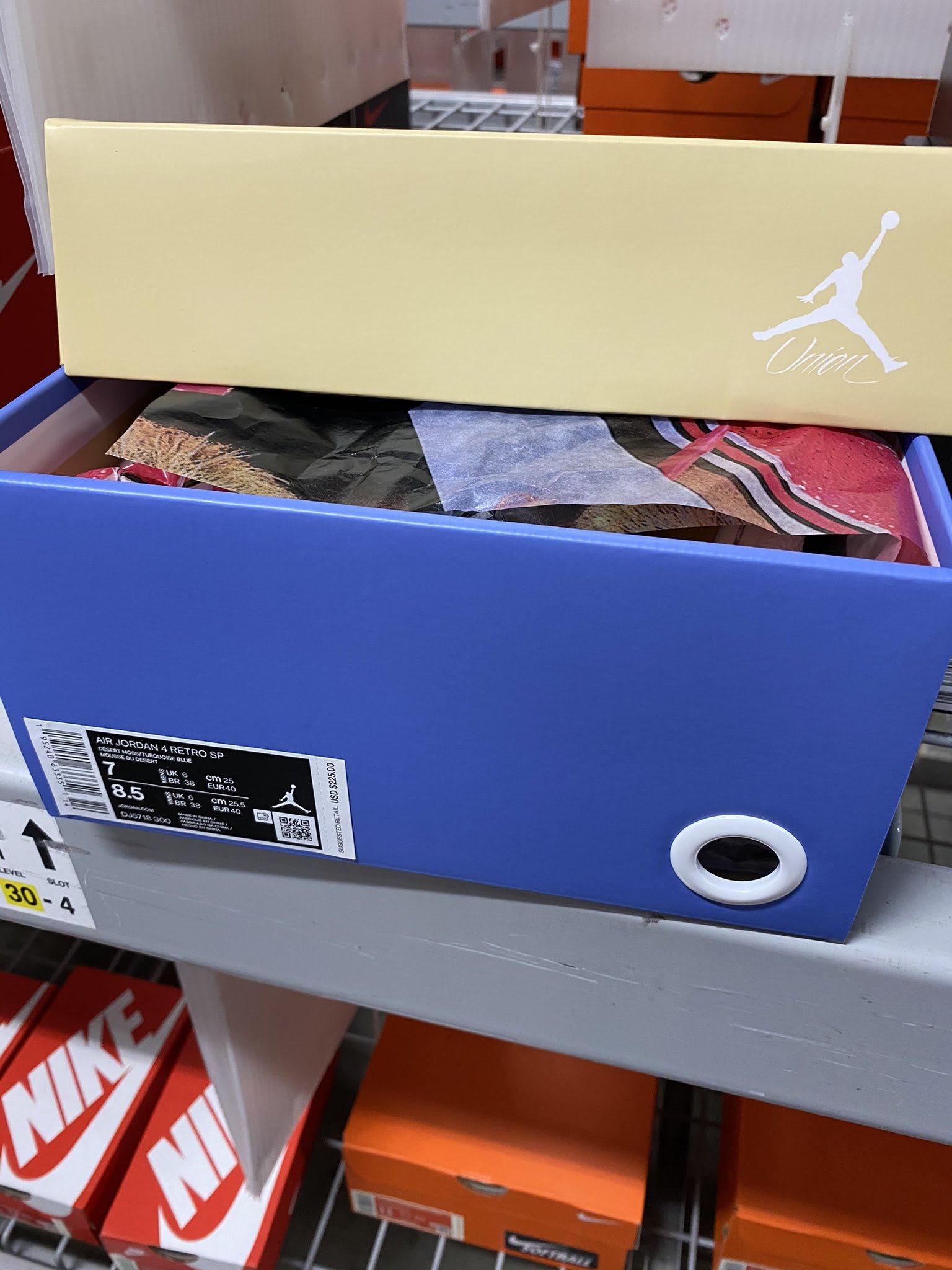 Union x Air Jordan 4 Desert Moss Release Date DJ5718-300 Box
