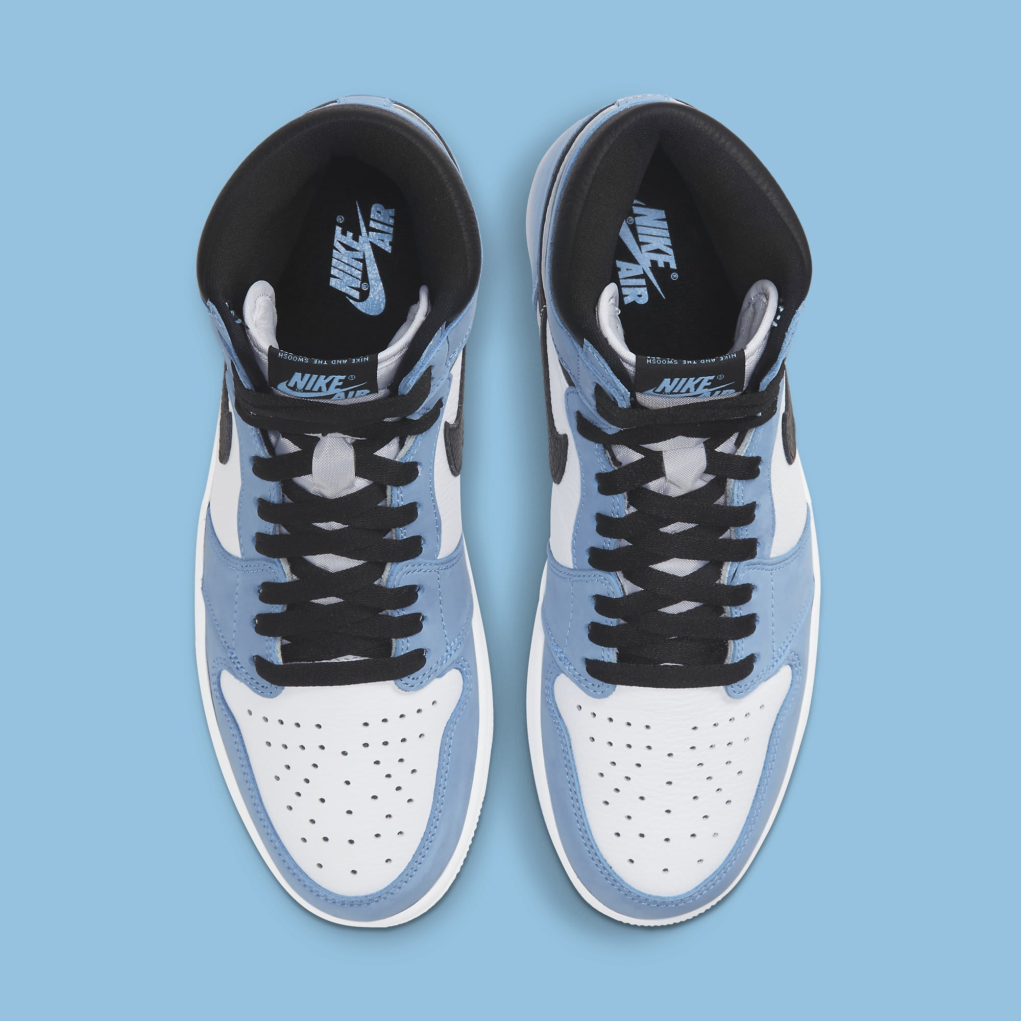 Air Jordan 1 University Blue Release Date 555088-134 Top