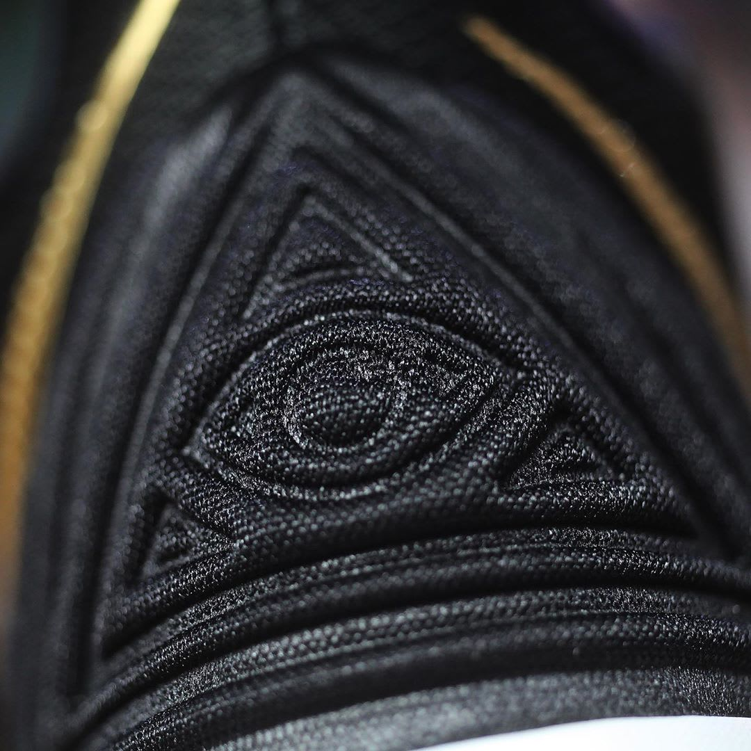 Nike Kyrie 5 Black Metallic Gold White Release Date AO2918-007 Third Eye