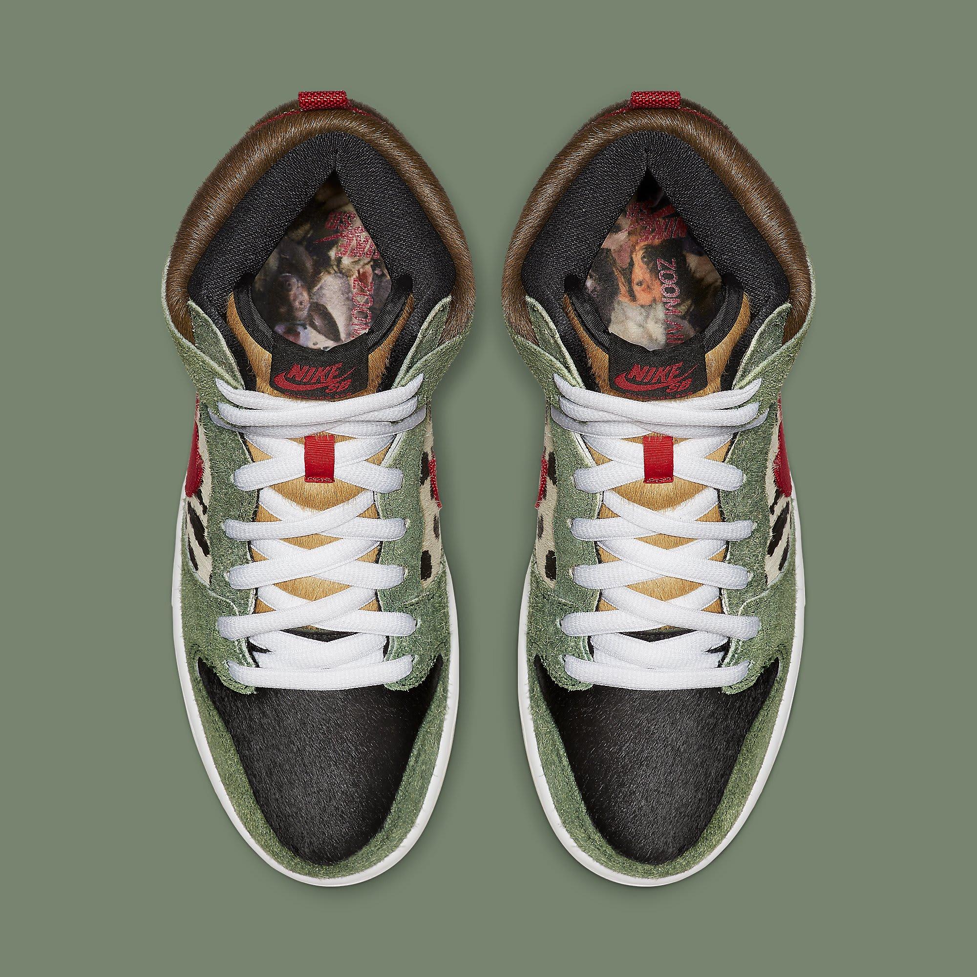 cheap for discount 1aead ca87b Image via Nike Nike SB Dunk High Dog Walker Release Date BQ6827-300 Top
