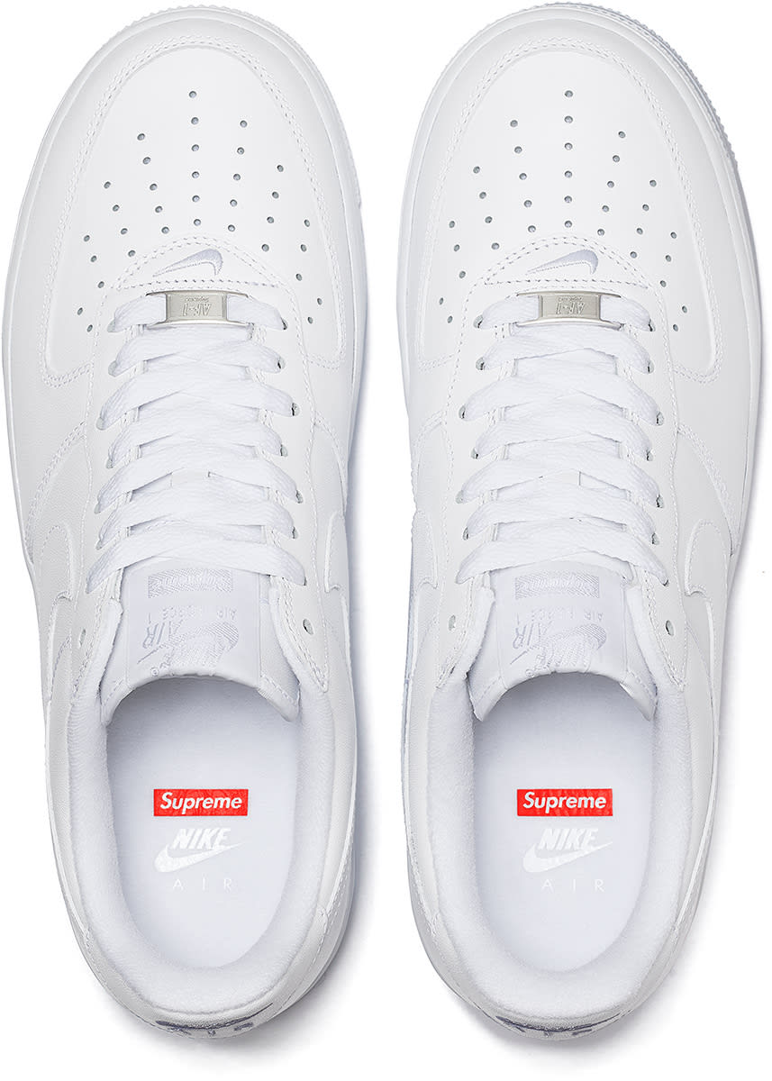 Supreme x Nike Air Force 1 Low Coming Soon: Official Photos Revealed