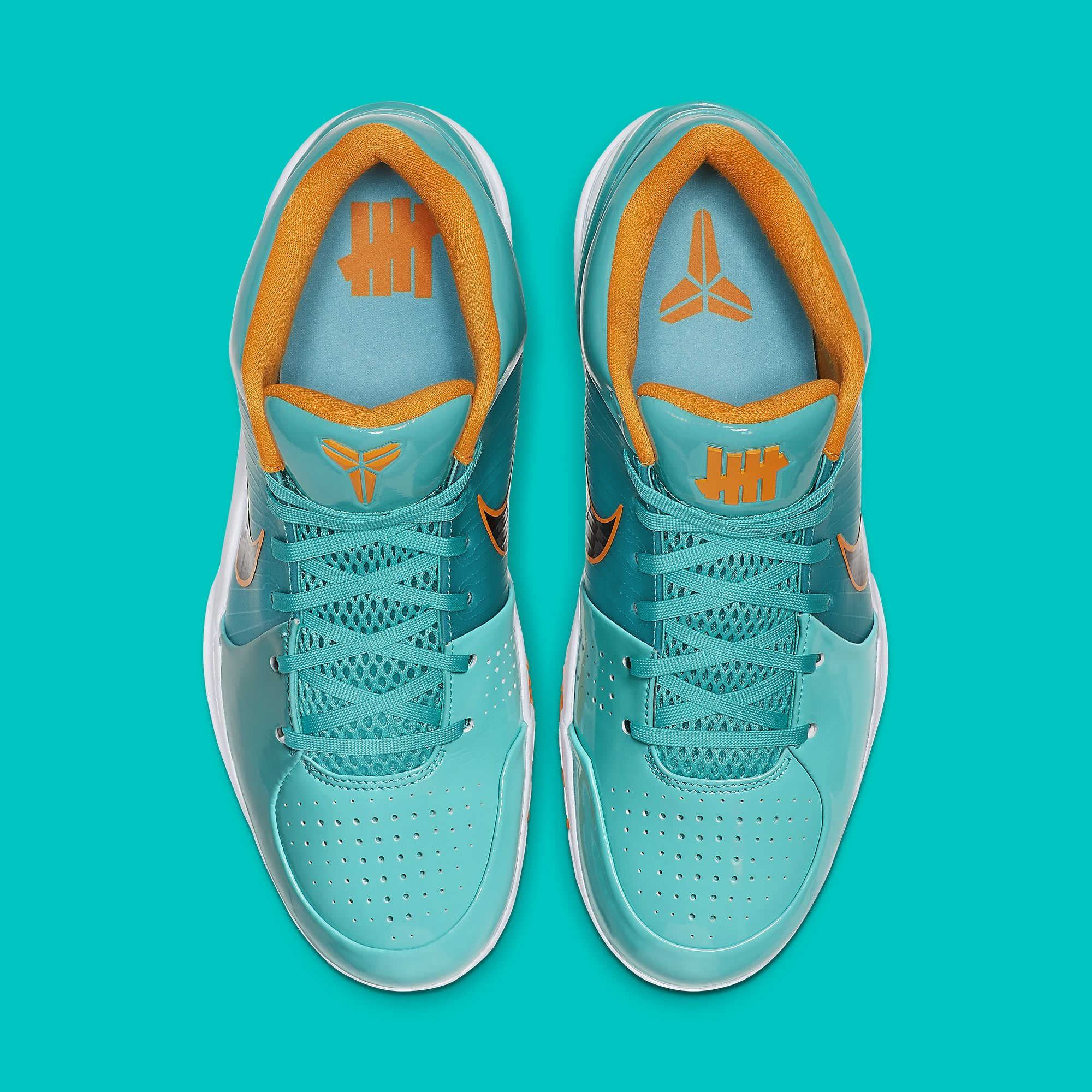 UNDFTD x Nike Kobe 4 Protro Teal Release Date CQ38869-300 Top