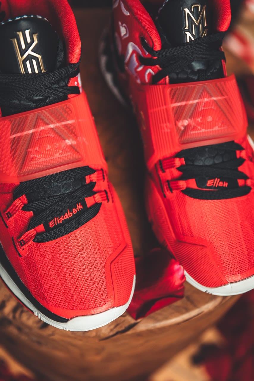 Sneaker Room x Nike Kyrie 6 'Mom' (Red Detail 2)