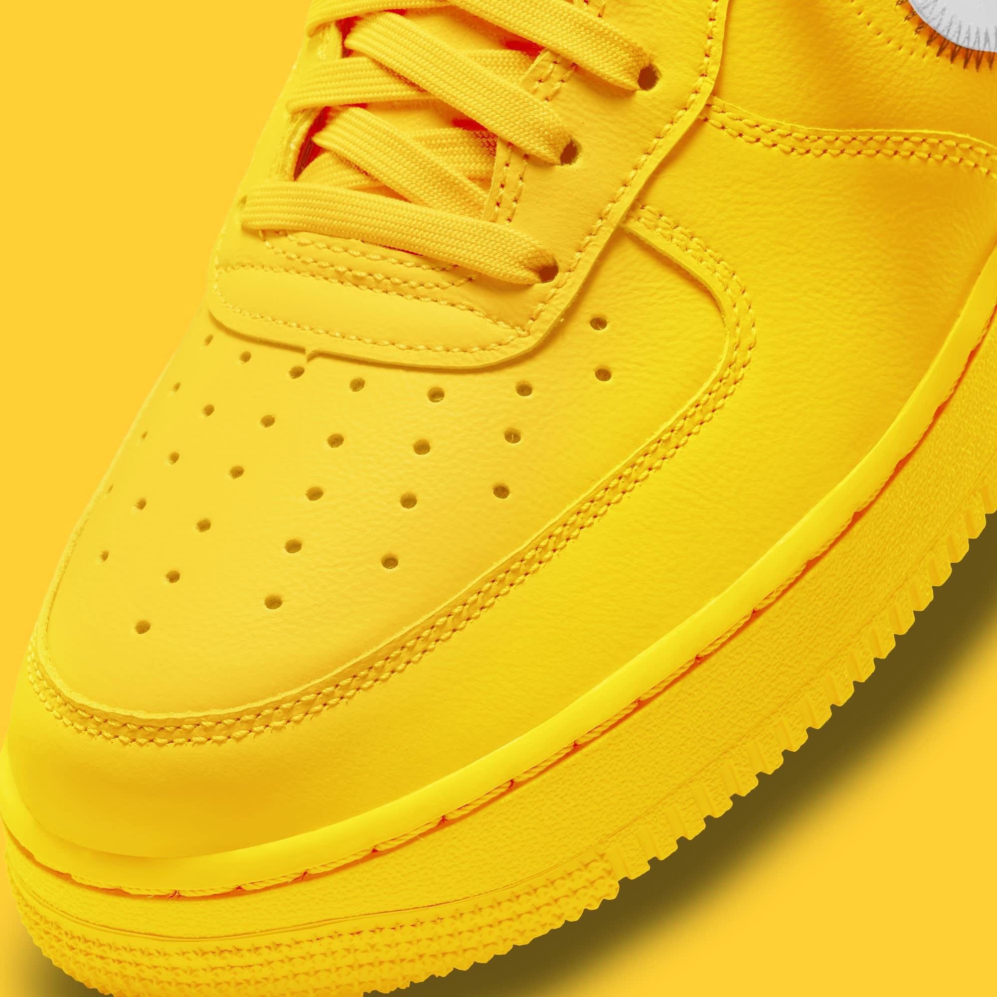 Off-White x Nike Air Force 1 Low 'Lemonade' DD1876-700 Toe