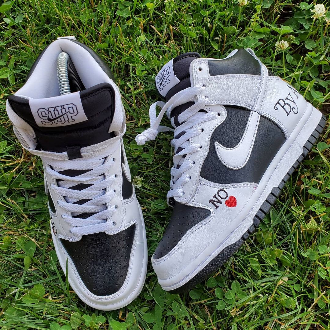 Supreme x Nike SB Dunk High 'By Any Means' (Pair)