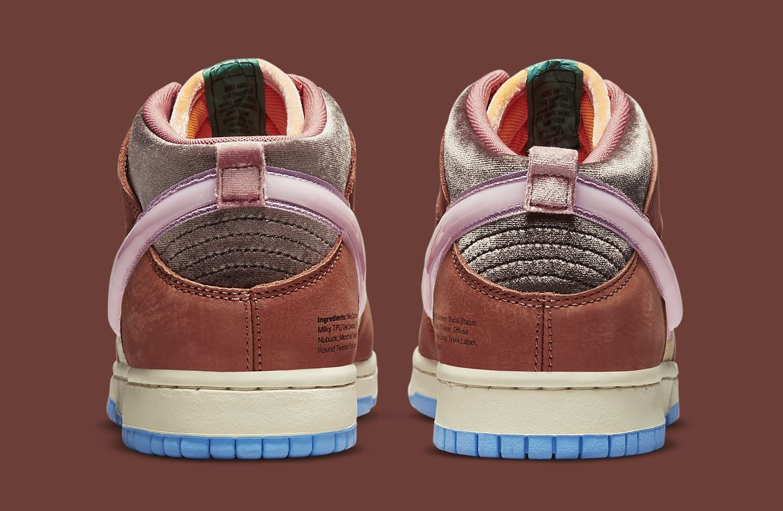 Social Status x Nike Dunk Mid DJ1173-700 Heel