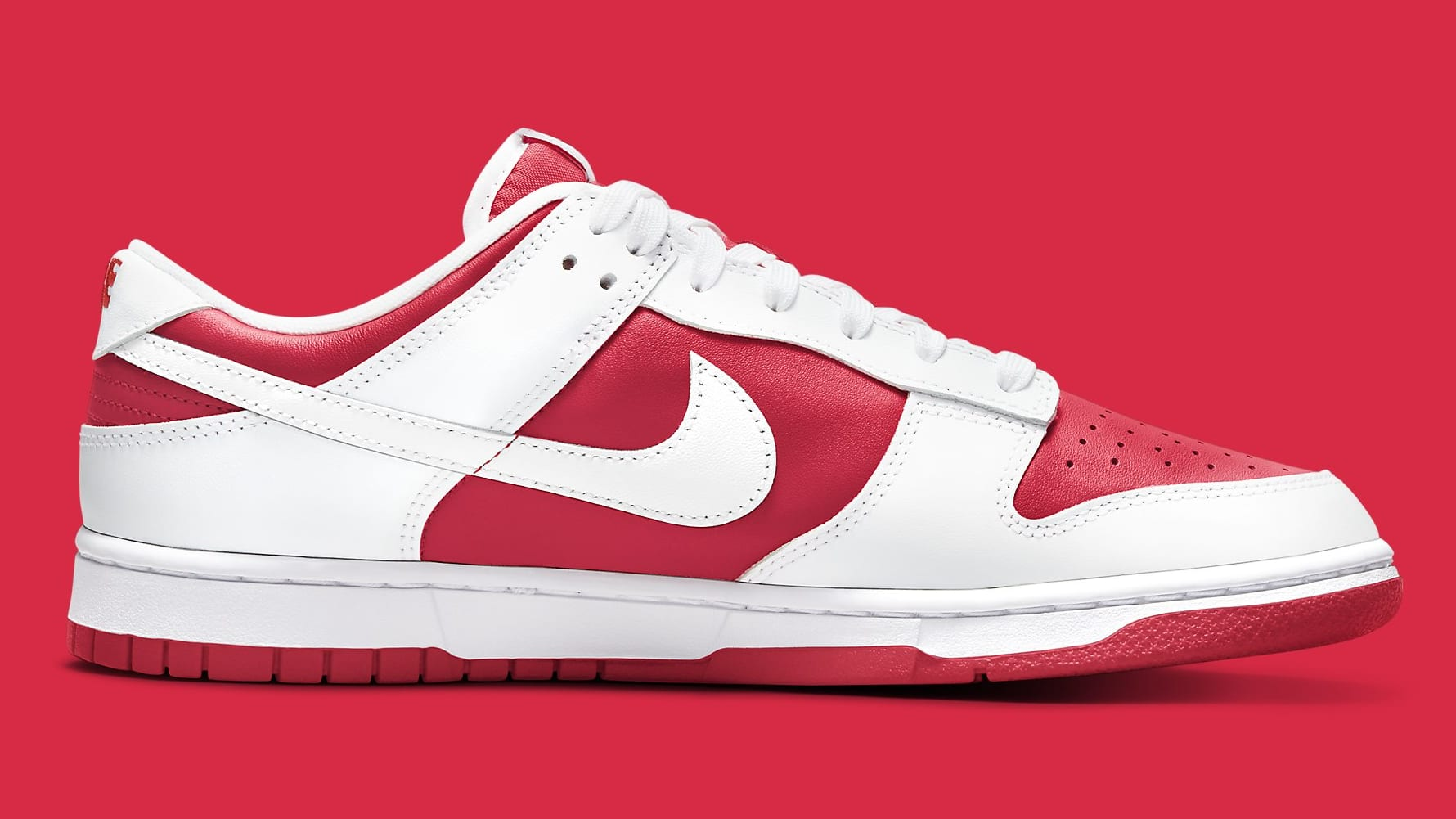 Nike Dunk Low Championship Red DD1391-600 Release Date Medial
