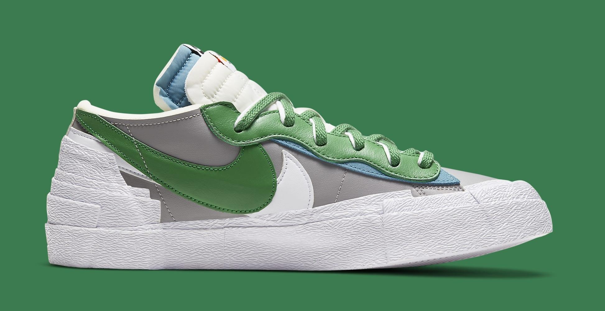 Sacai x Nike Blazer Low 'Classic Green' DD1877-001 Medial