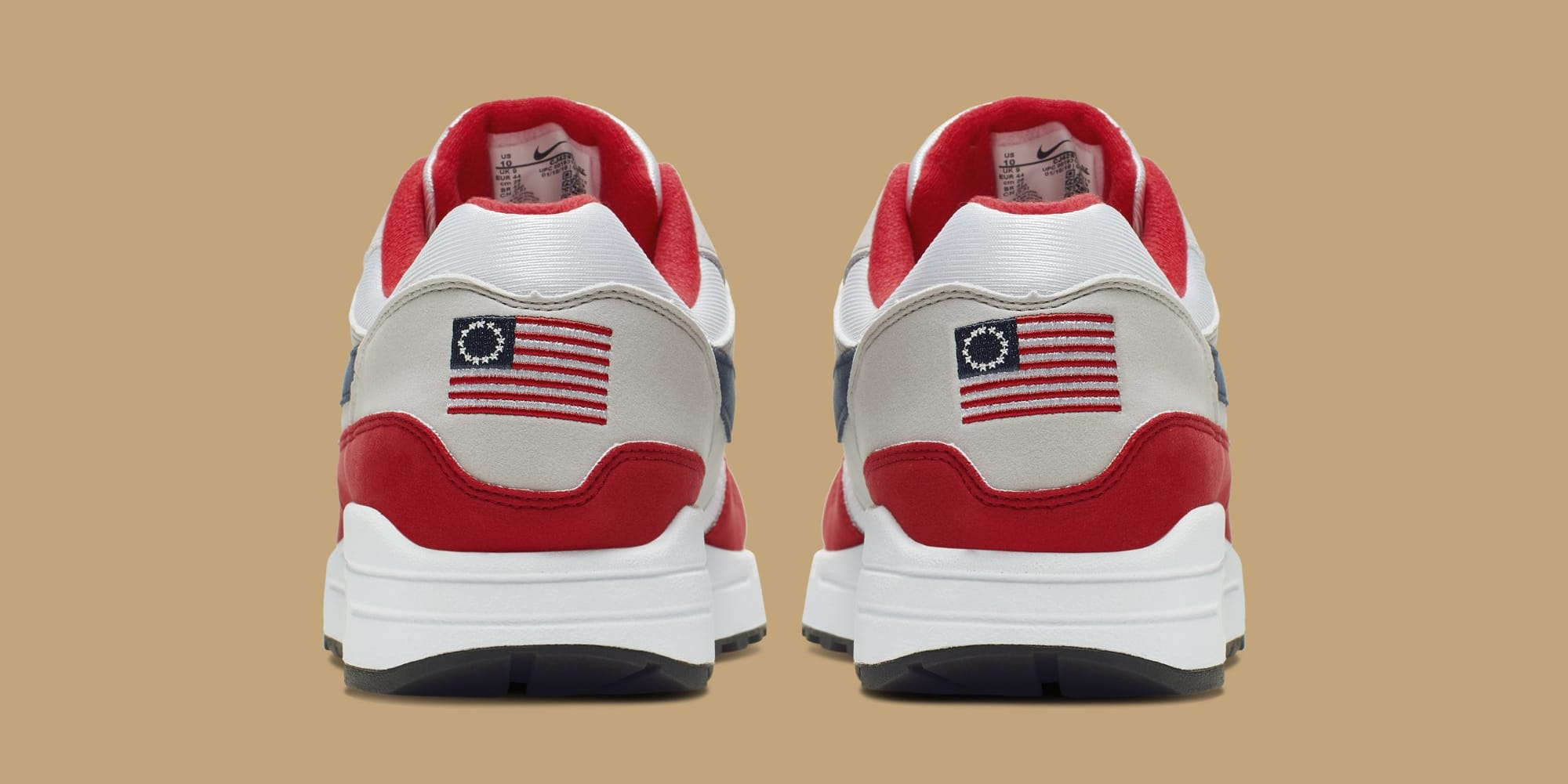 Nike Air Max 1 'Fourth of July' CJ4283-100 (Heel)