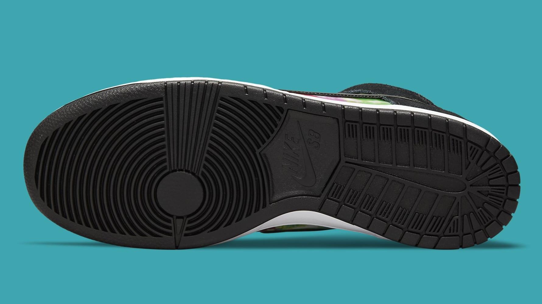 Nike SB Dunk High TV Signal Release Date CZ2253-100 Sole