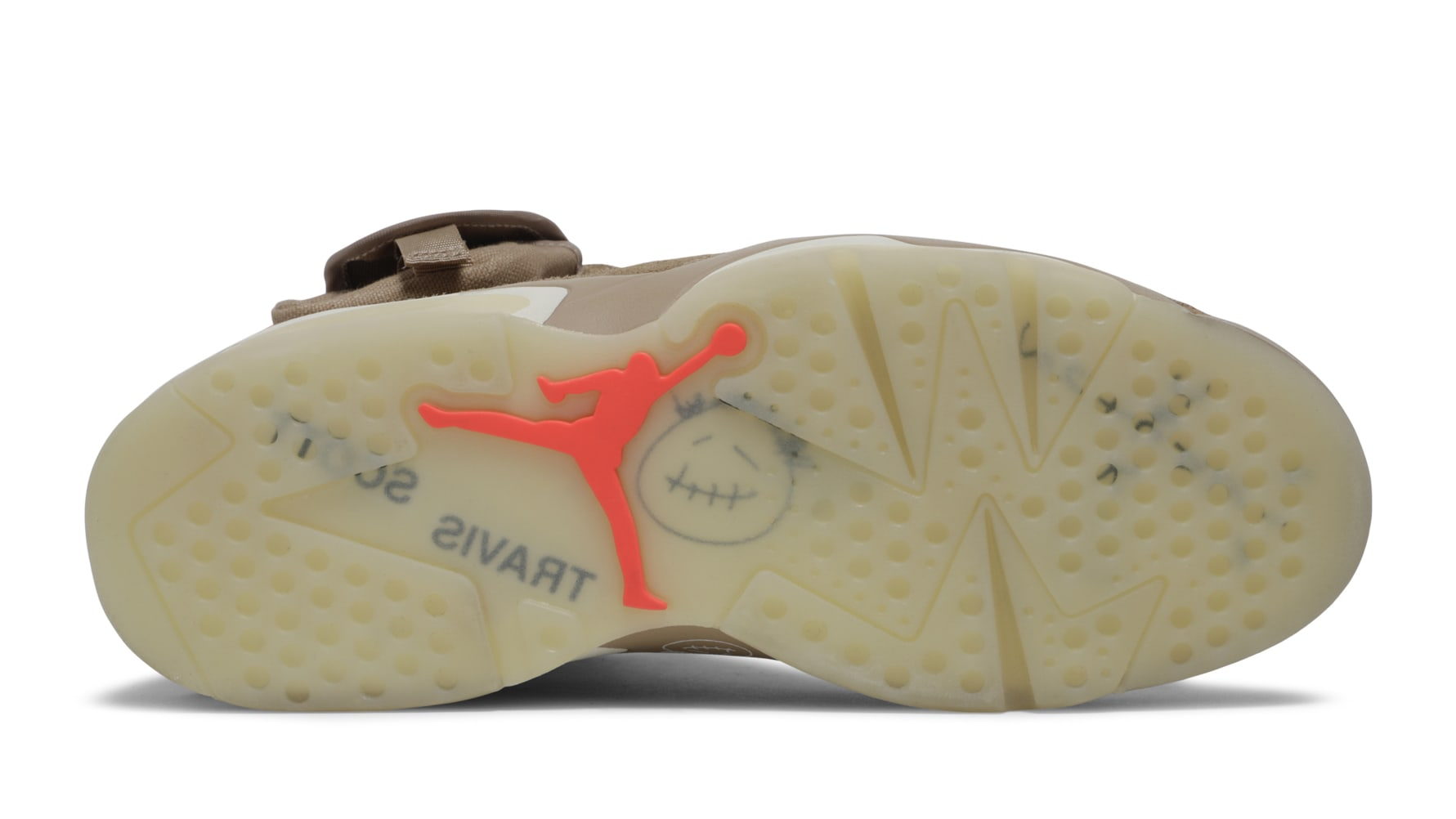 Travis Scott x Air Jordan 6 VI British Khaki Release Date DH0690-200 Sole