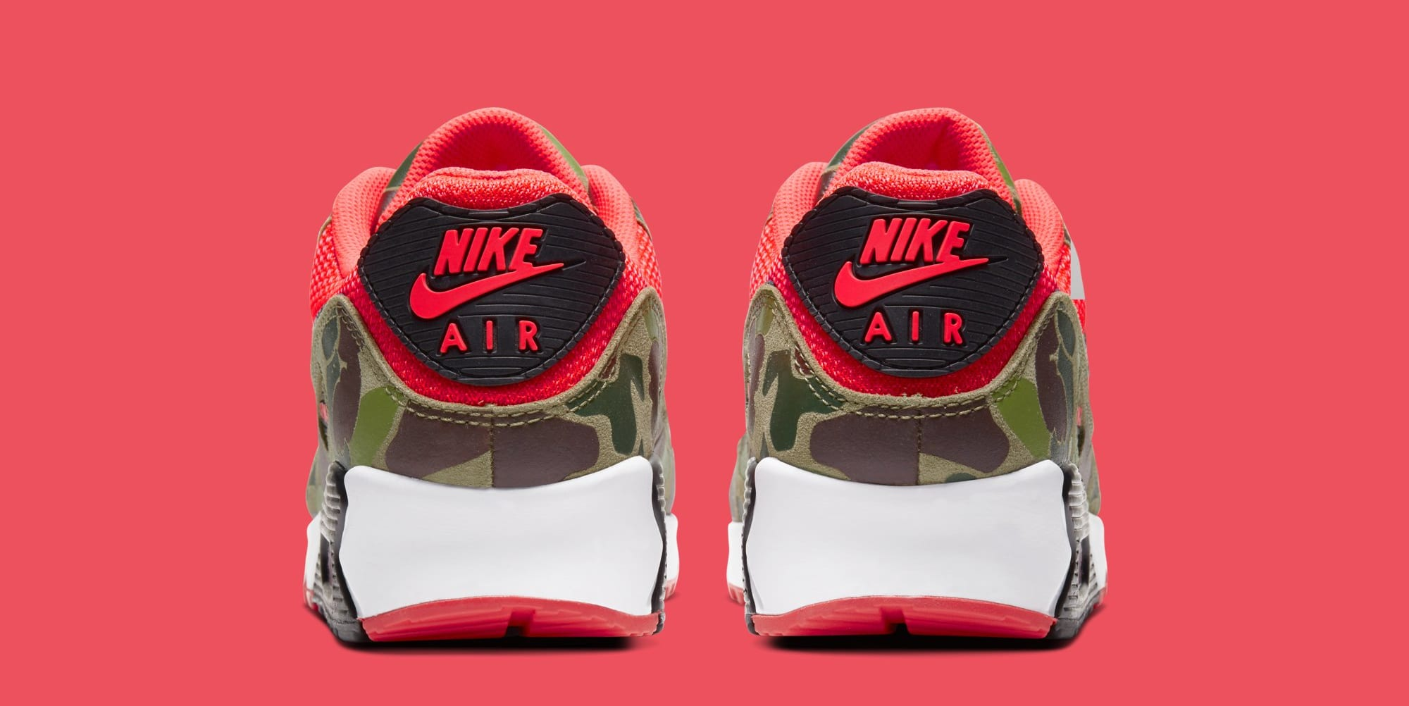 Nike Air Max 90 'Infrared Duck Camo' CW6024-600 (Heel)