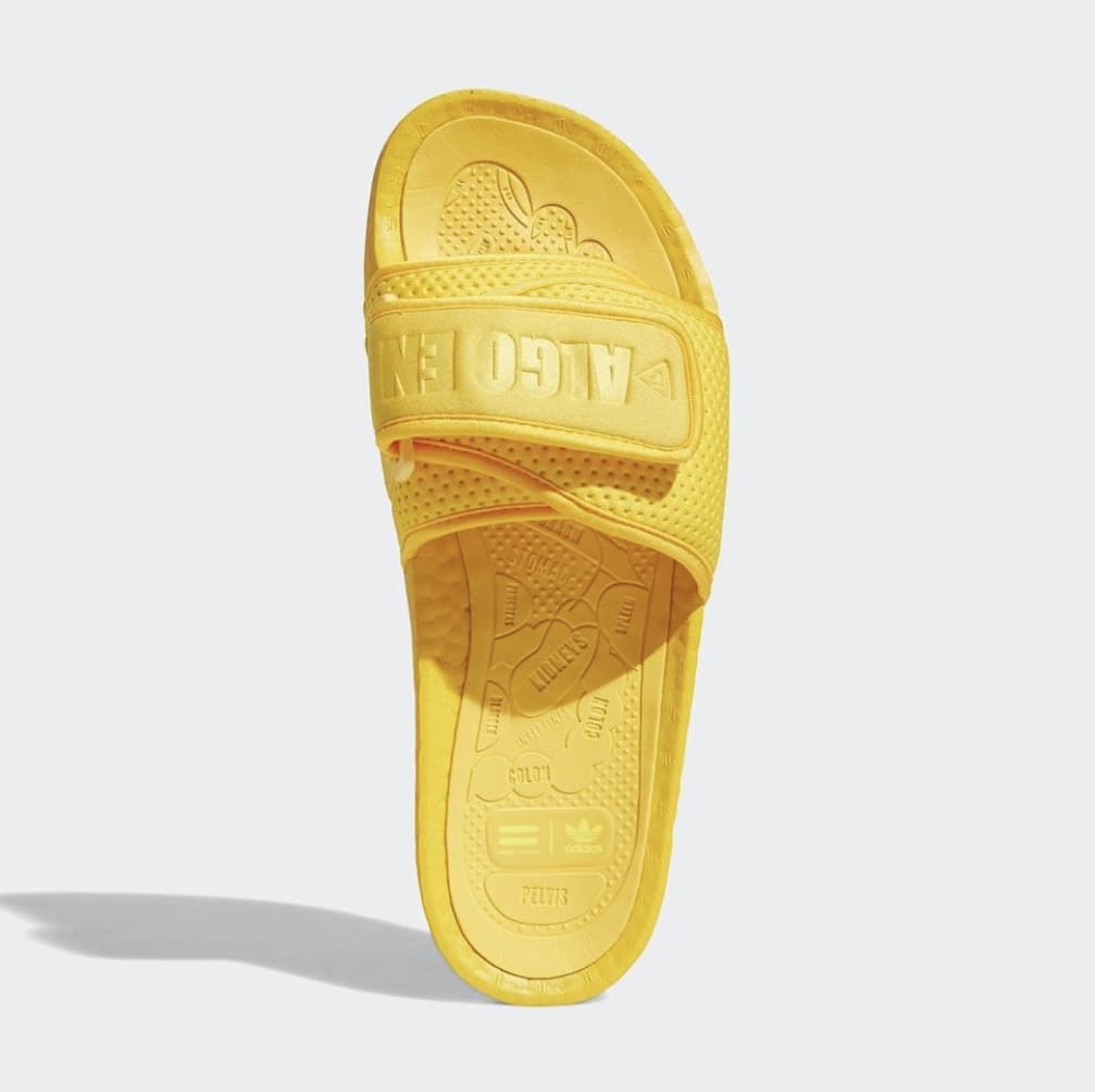 Pharrell x Adidas PW Boost Slide 'Bold Gold' Top