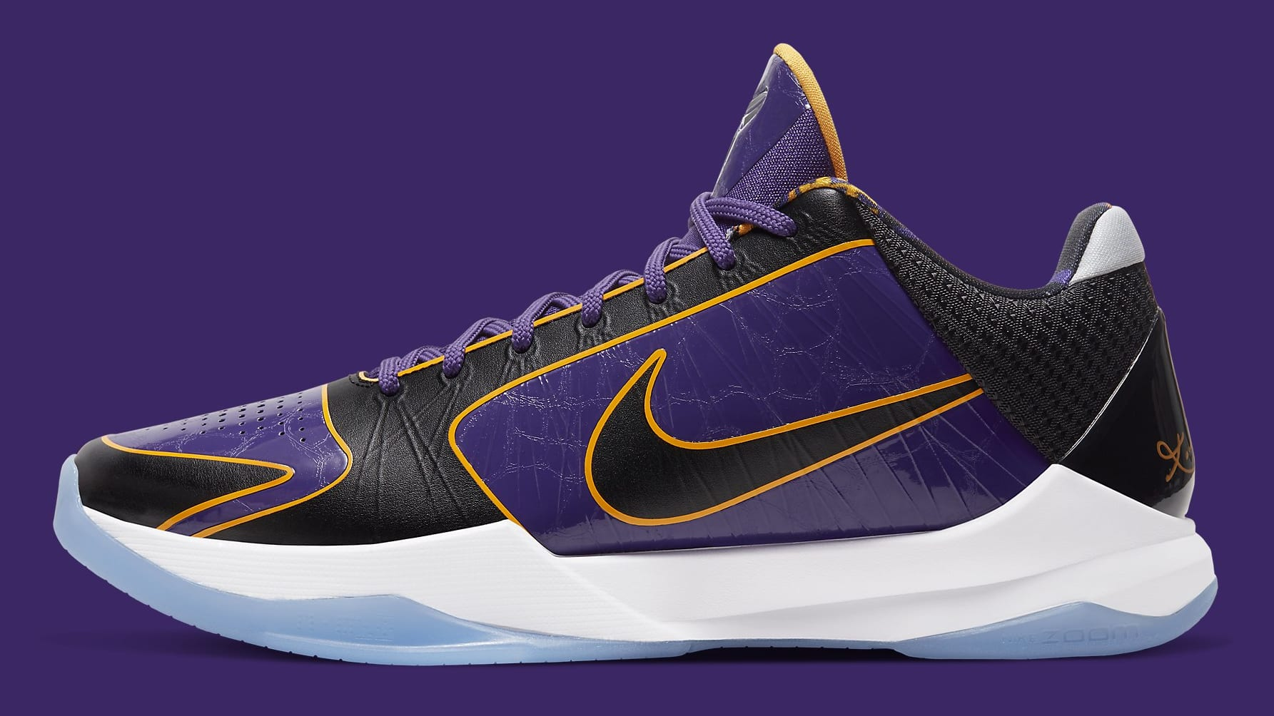 Nike Kobe 5 Protro Lakers Release Date CD4991-500 Profile