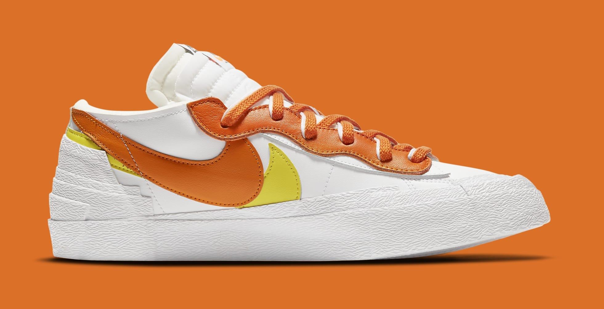 Sacai x Nike Blazer Low 'Magma Orange' DD1877-100 Medial