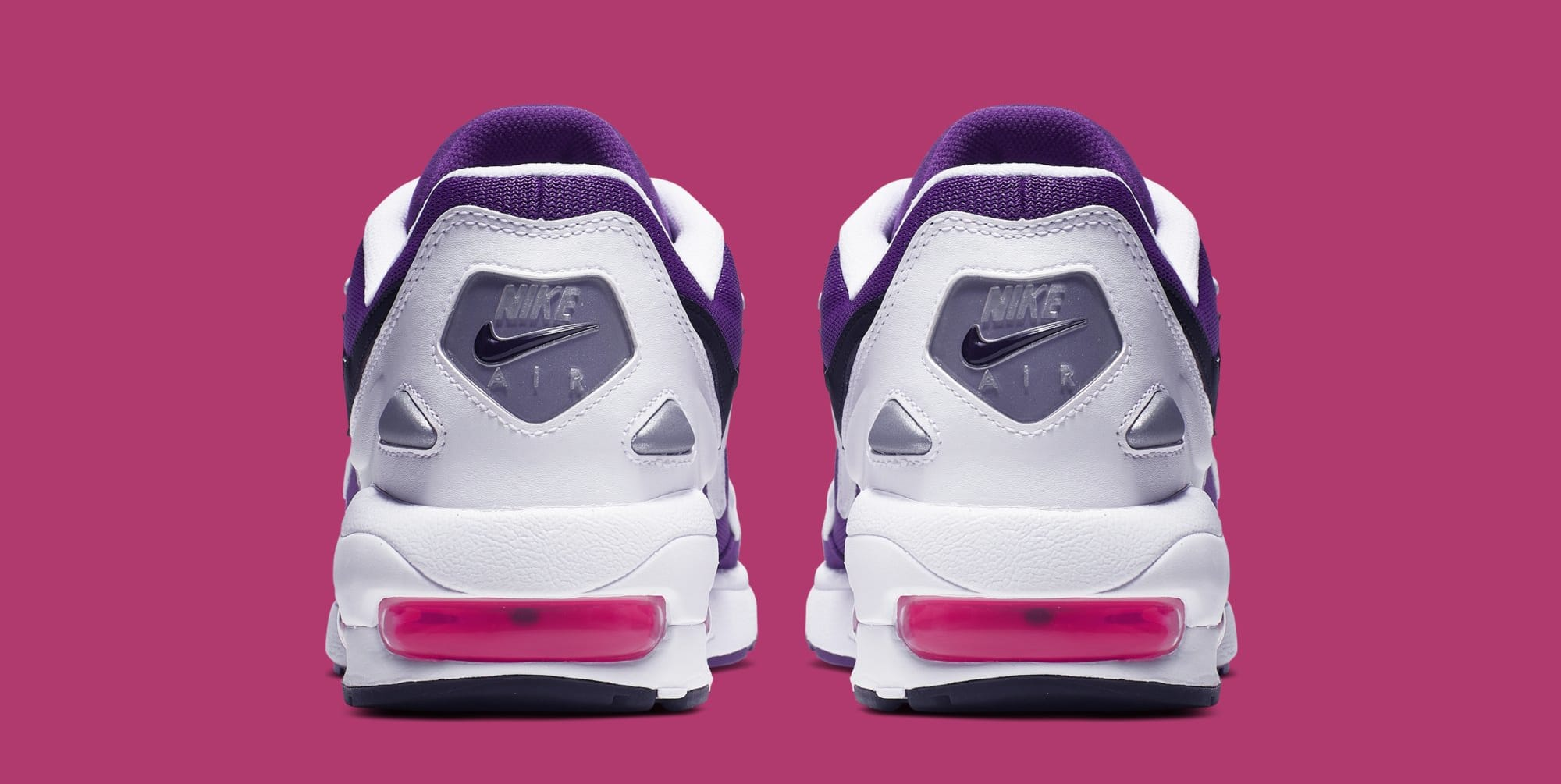 competitive price 3eef8 d2a36 Image via Nike Nike Air Max2 Light  White Court Purple-Hyper Pink  AO1741- 103