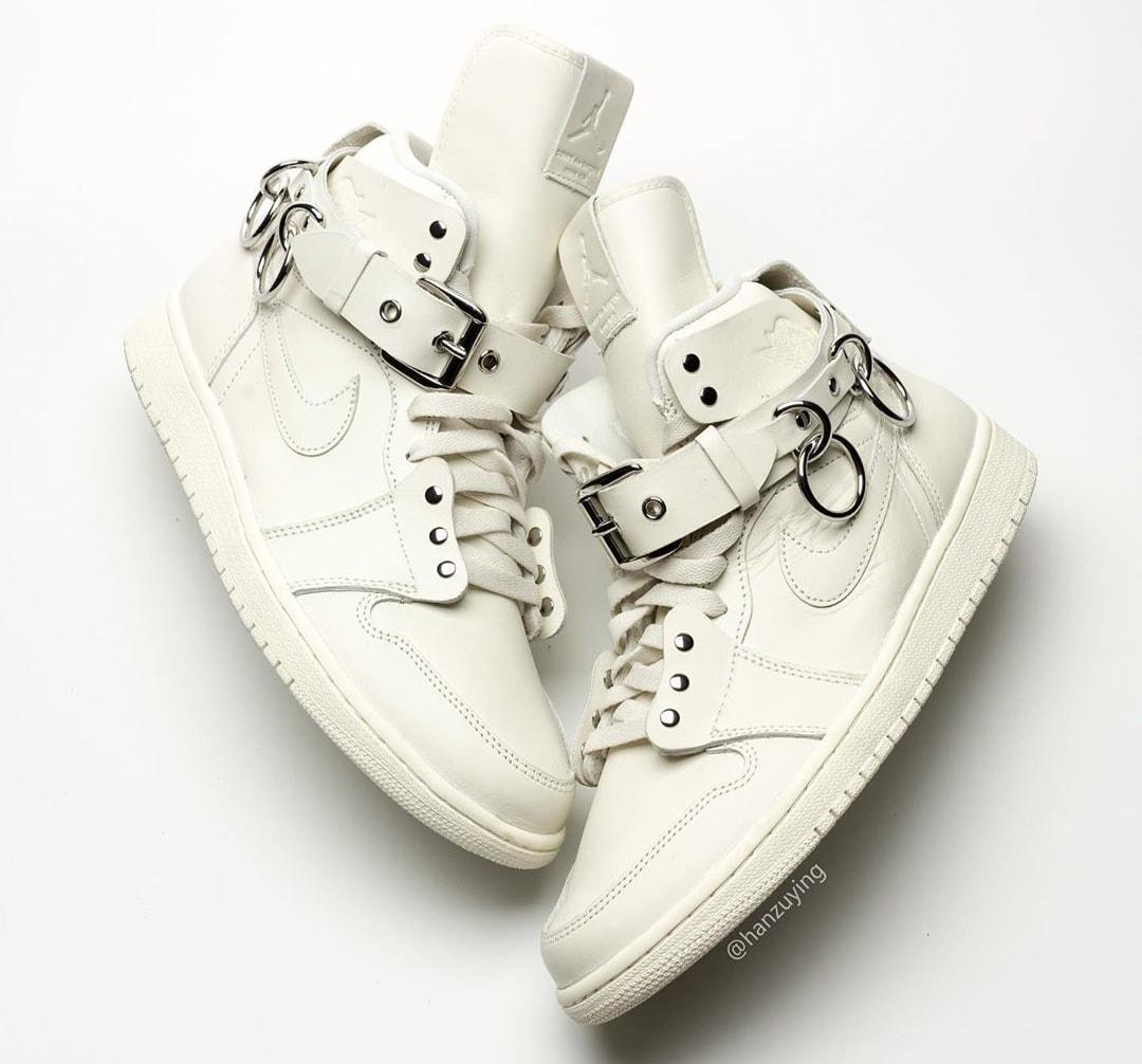 Comme Des Garcons x Air Jordan 1 'White' CN5738-100 Lateral