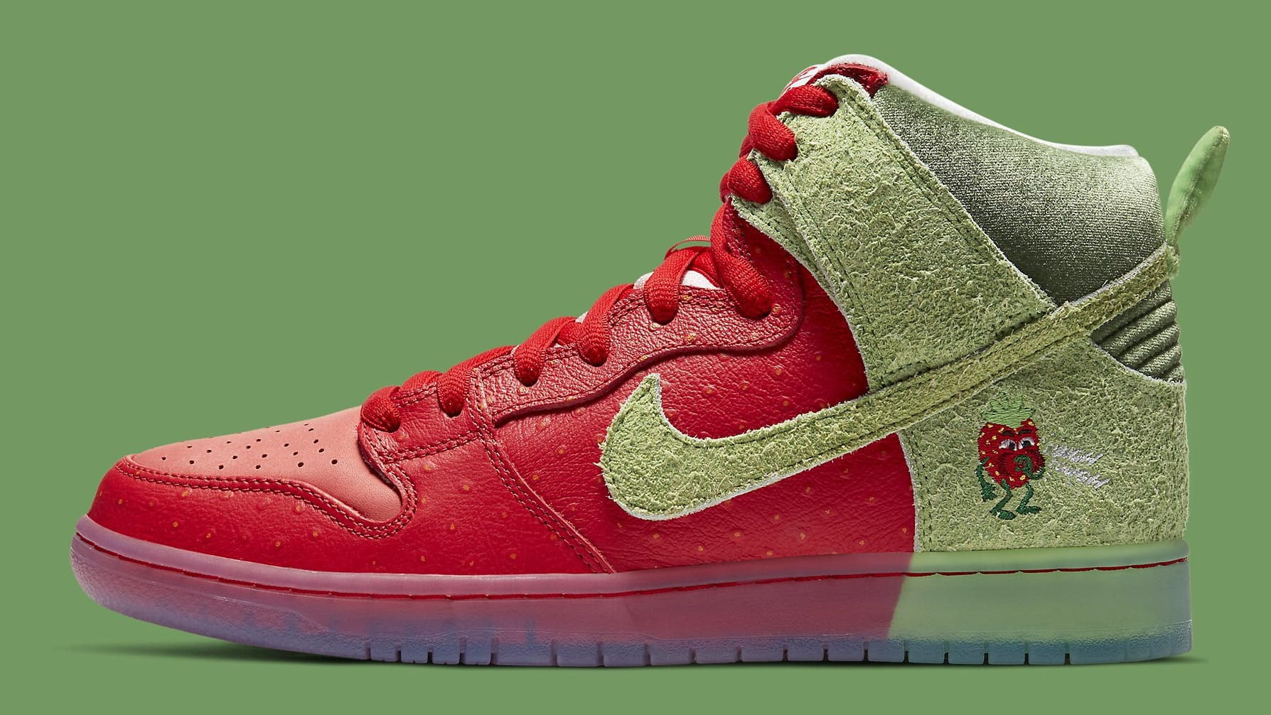Strawberry Cough x Nike SB Dunk High SW7093-600 Release Date Profile