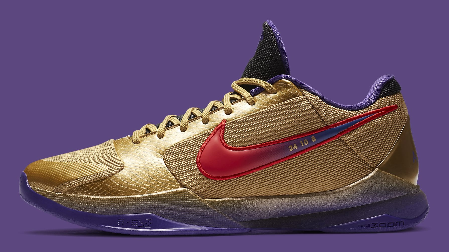 Undefeated x Nike Kobe 5 Gold Hall of Fame Release date DA6809-700 Profile