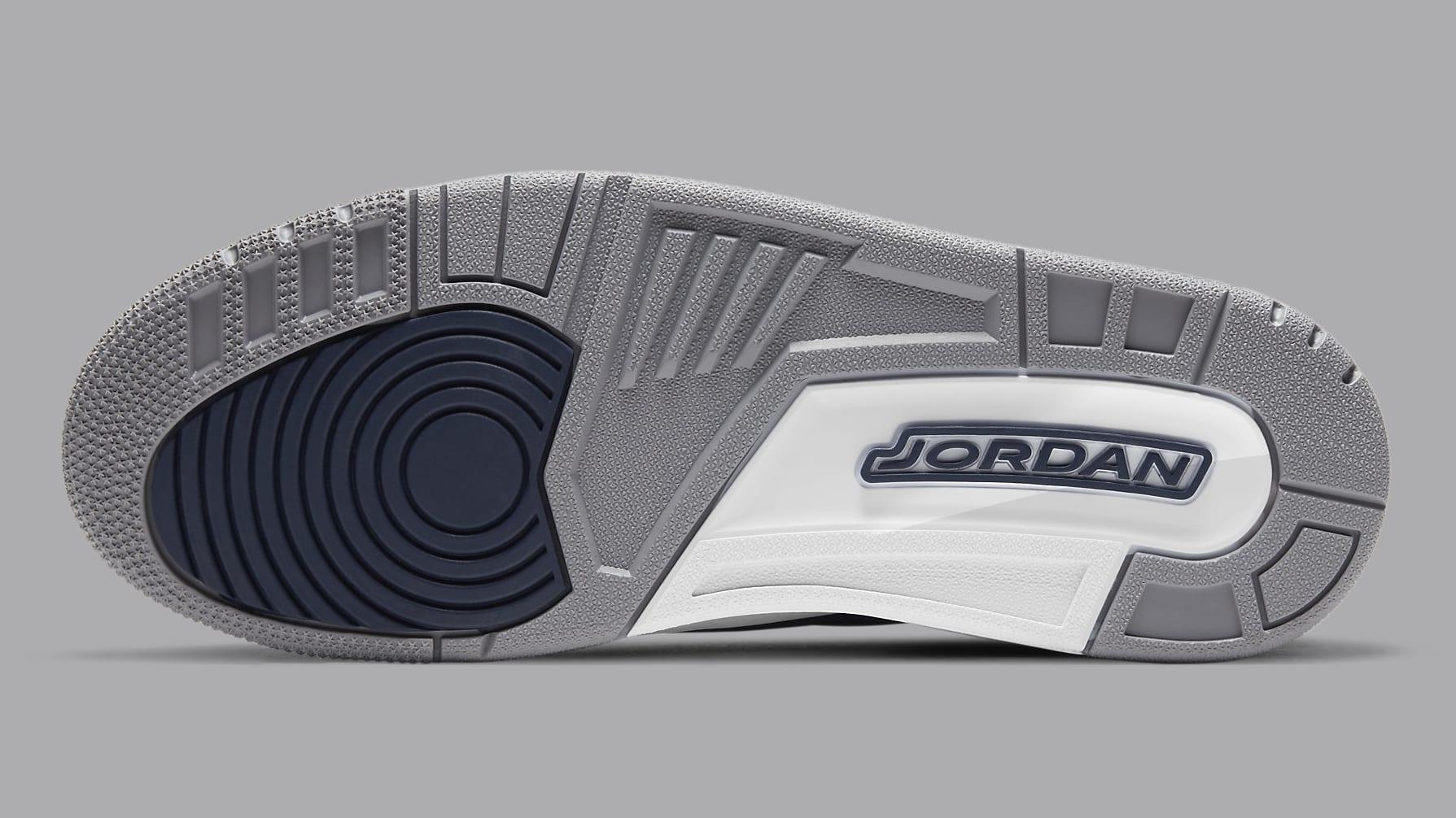 Air Jordan 3 Midnight Navy Release Date CT8532-401 Sole