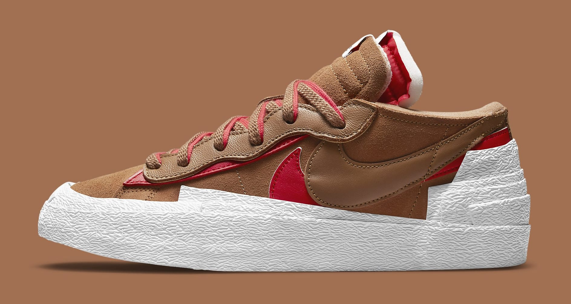 Sacai x Nike Blazer Low 'British Tan' DD1877-200 Lateral