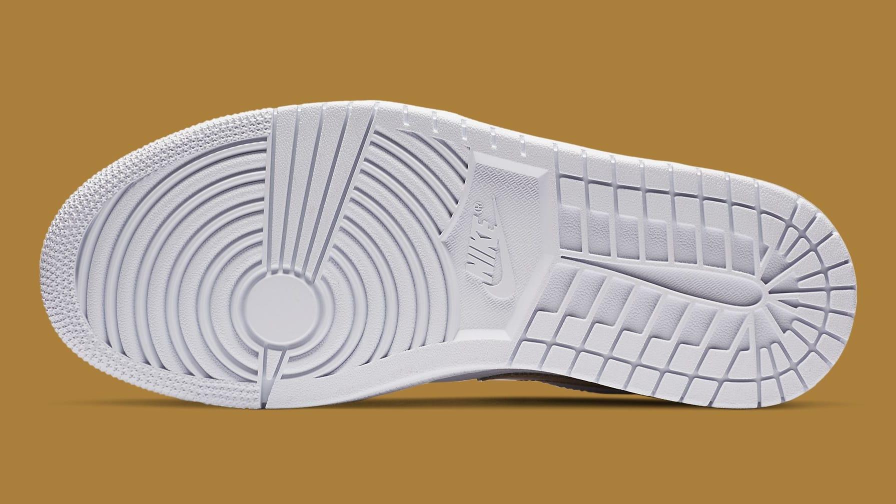 Air Jordan 1 Low White Metallic Gold Release Date CZ4776-100 Sole