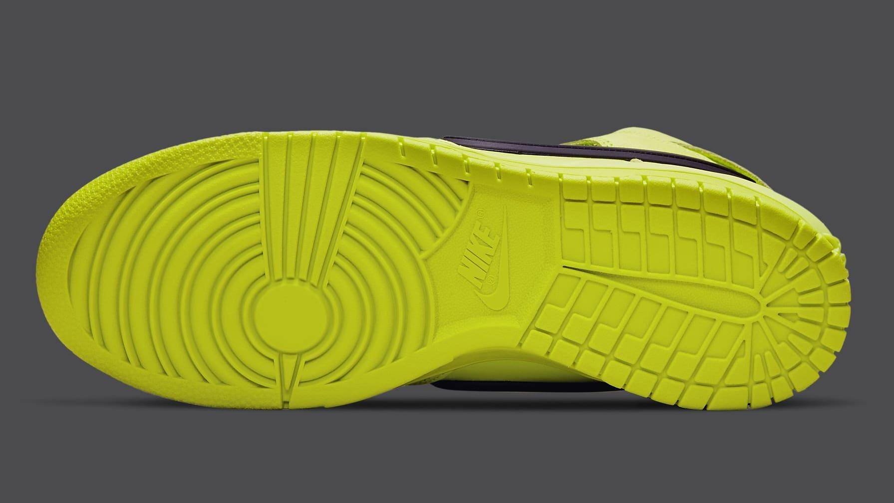Ambush x Nike Dunk High Atomic Green Release Date CU7544-300 Sole