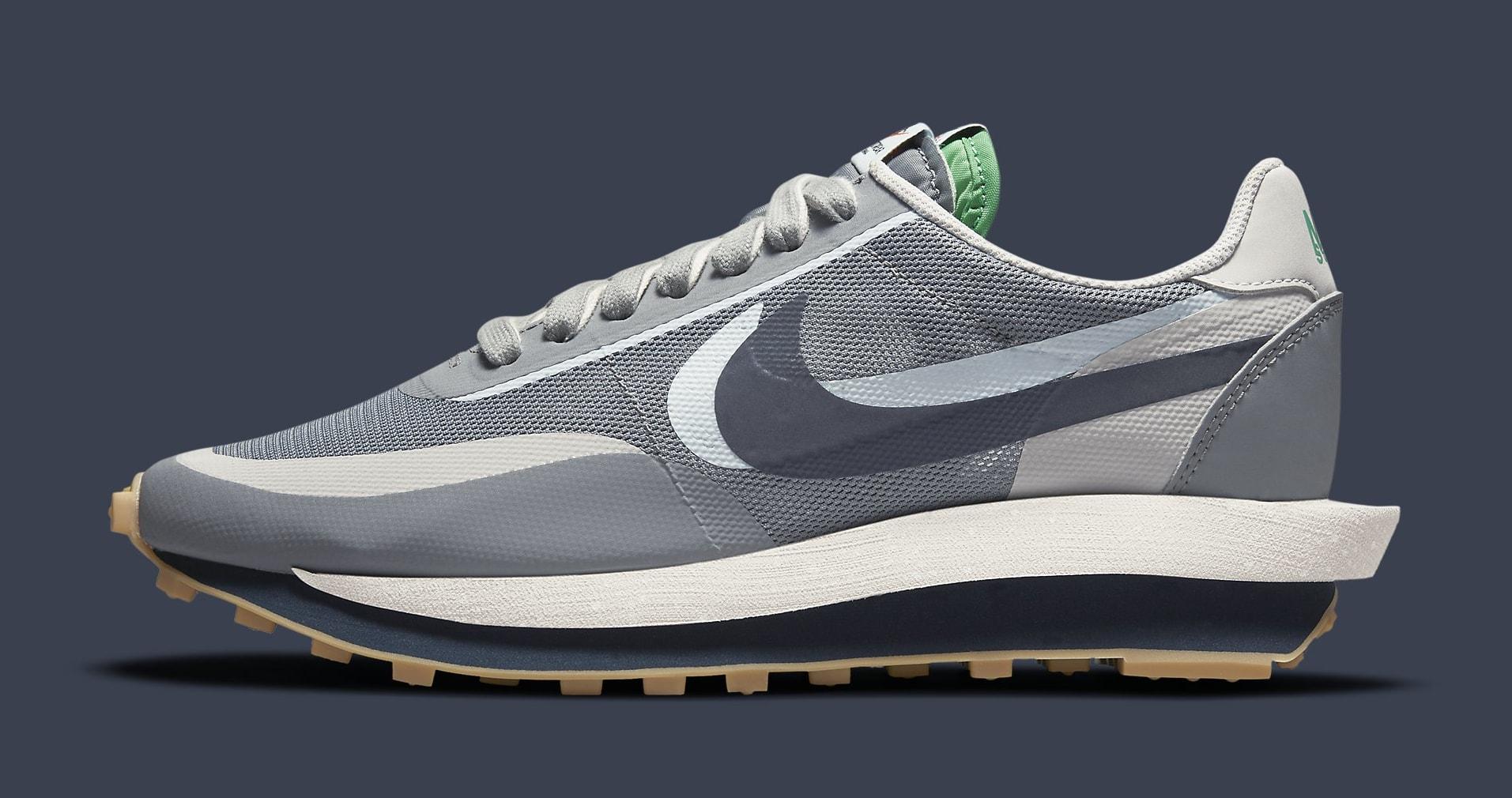Clot x Sacai x Nike LDWaffle 'Cool Grey' DH3114-001 Lateral
