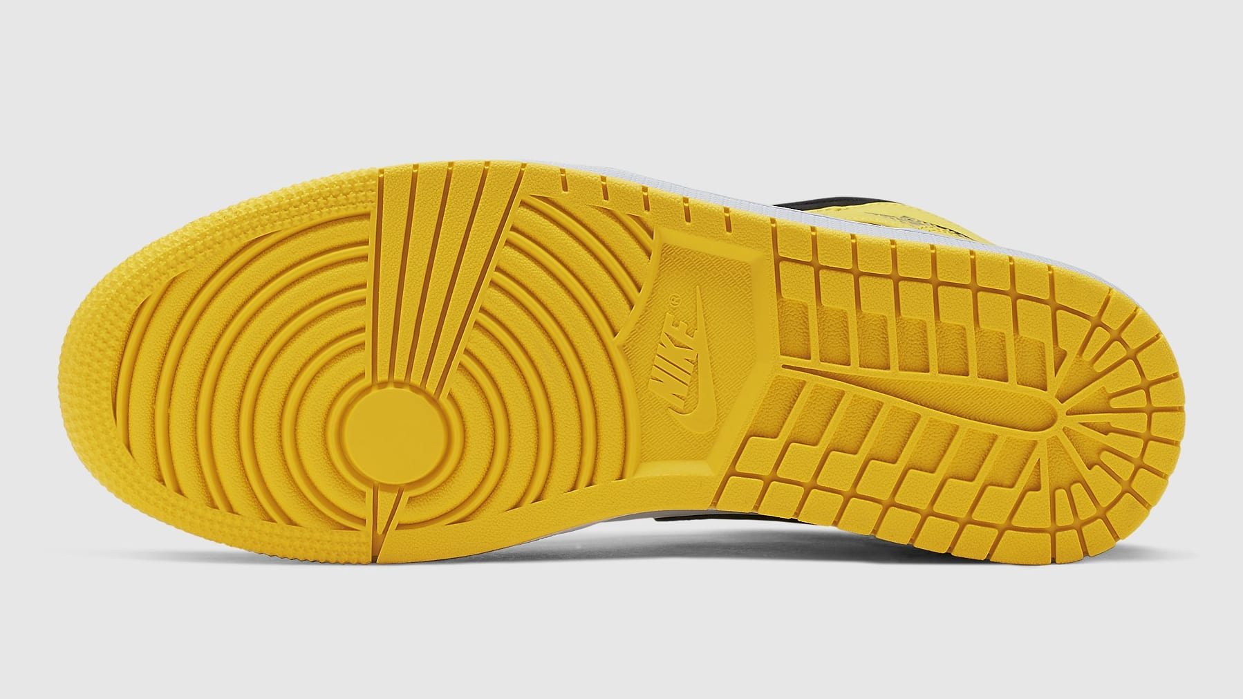 a5a2425e82099 Image via Nike Air Jordan 1 Mid Yellow Toe Release Date 852542-071 Sole