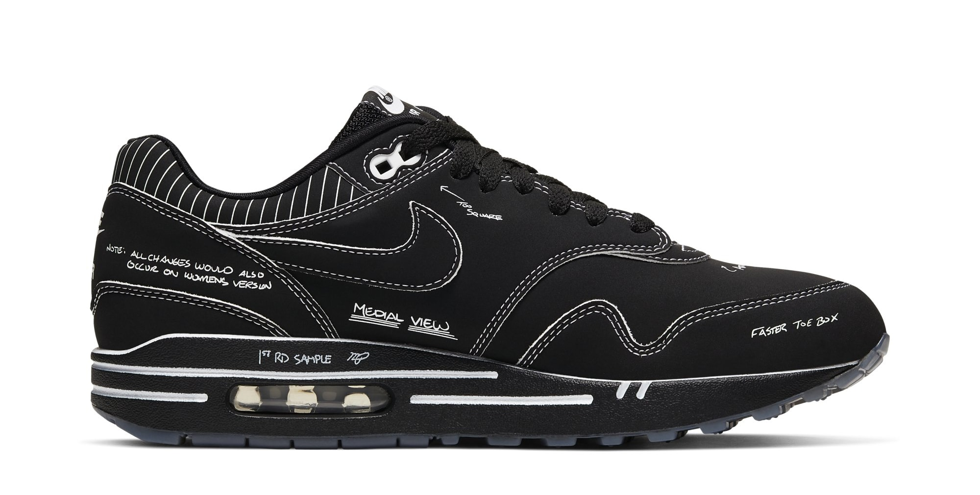Nike Air Max 1 'Schematic Black' CJ4286-001 (Medial)